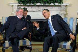 Brazilian President Lula da Silva with U.S. President Barack Obama