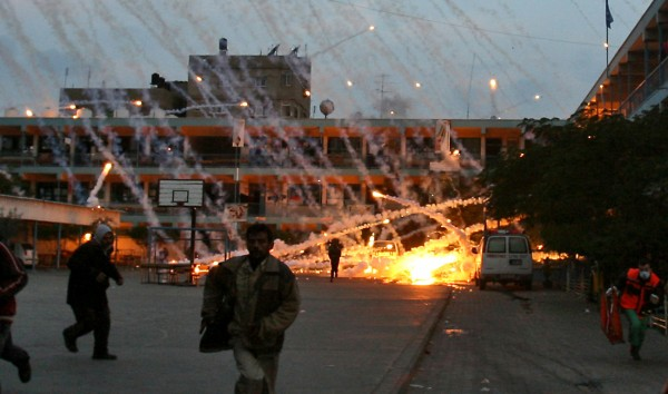 Israel targets a school with white phosphorous munitions during 'Operation Cast Lead'