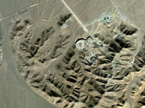 A satellite image of Iran's Fordo enrichment plant, near Qum (AFP/Getty)