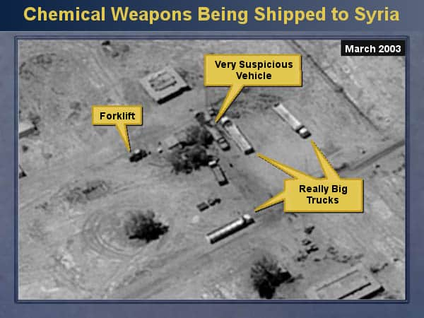 Chemical Weapons Being Shipped to Syria