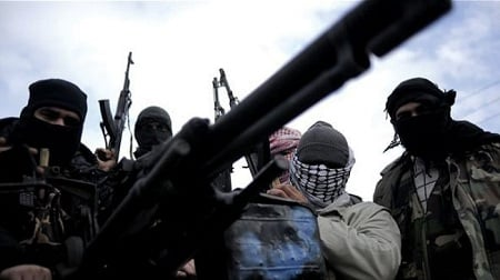 """Armed rebels in Syria. The New York Times has called Al-Qaeda """"one of the uprising's most effective fighting forces"""". (Photo: Press TV)"""