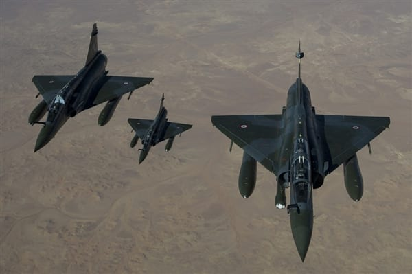French Mirage 2000 D aircraft flying to Mali (Richard Nicolas-Nelson / Ecpad)