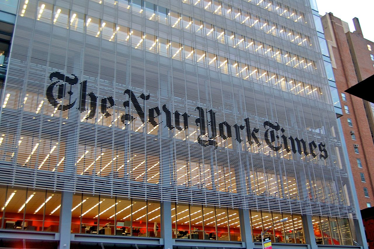 The New York Times building in New York City (Haxorjoe/Wikimedia Commons)