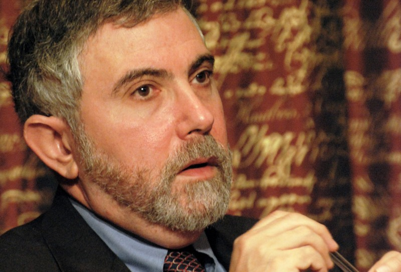Paul Krugman, Laureate of the Sveriges Riksbank Prize in Economic Sciences in Memory of Alfred Nobel 2008 at a press conference at the Royal Swedish Academy of Sciences in Stockholm (Prolineserver/Wikimedia Commons)