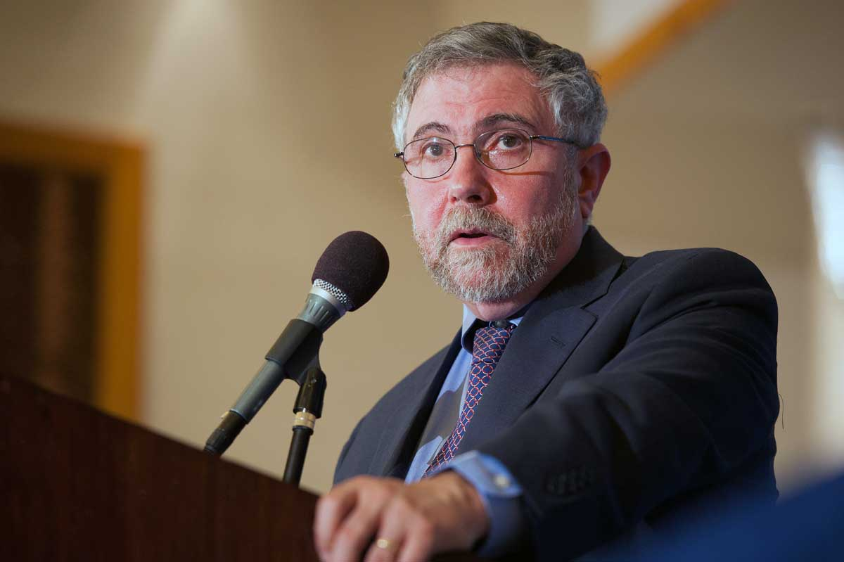 Paul Krugman speaks to The Commonwealth Club of California, in San Francisco. May 22, 2012. (Ed Ritger/Commonwealth Club)