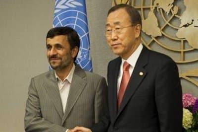 Mahmoud Ahmadinejad and Ban Ki-moon