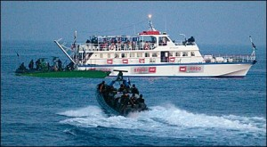 Israel's attack on the Gaza Freedom Flotilla, which was delivering humanitarian supplies to the besieged Gaza Strip, left nine Turkish peace activists dead (Uriel Sinai/Reuters)