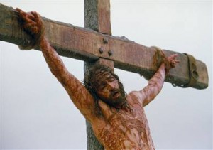 """Jesus on the cross, from the film """"The Passion of the Christ"""""""