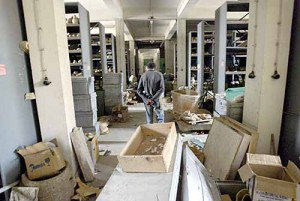 The looted vault of the Iraqi National Museum (Jerome Delay/AP)