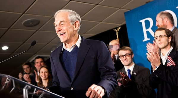 Ron Paul won a second place finish in the New Hampshire Republican primary (Brendan Hoffman/New York Times)