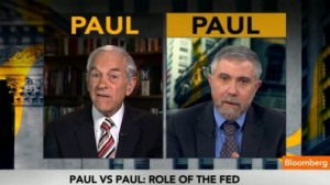 Ron-Paul-vs-Paul-Krugman