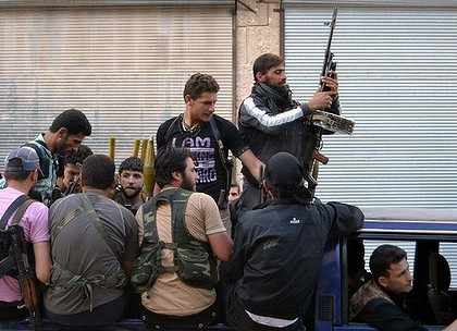 Armed rebels in Syria operating under the banner of the Free Syrian Army