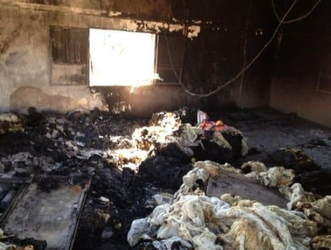 One of the houses in Qubair was devastated inside (Photo and caption: BBC)