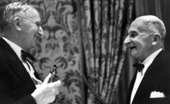 Ludwig von Mises and Friedrich Hayek, luminaries of the Austrian school of economics