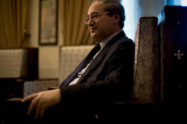 Syrian Deputy Foreign Minister Fayssal Mekdad (Andrea Bruce/New York Times)