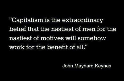 John Maynard Keynes quote on capitalism