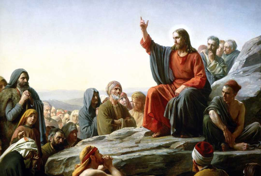 """The Sermon on the Mount"" by Carl Bloch (Public Domain)"