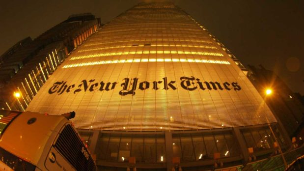 The New York Times building in New York City (Torrenegra/CC BY 2.0)