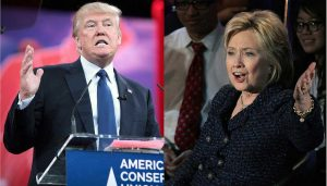Donald Trump and Hillary Clinton (Photos by Gage Skidmore/Compilation by Krassotkin/CC BY-SA 3.0)