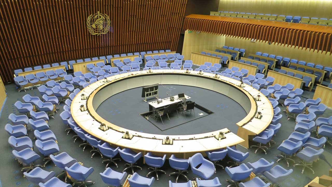 The Executive Board Room of the World Health Organization (WHO) (Thorkild Tylleskar/CC BY-SA 3.0)