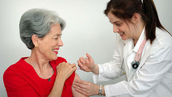 Elderly flu shot